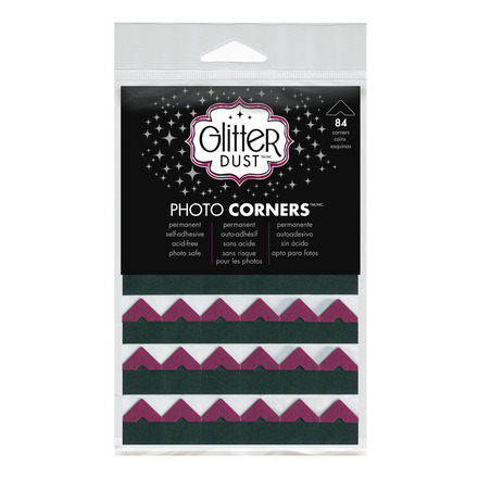 Glitter Dust Photo Corners • Pink picture