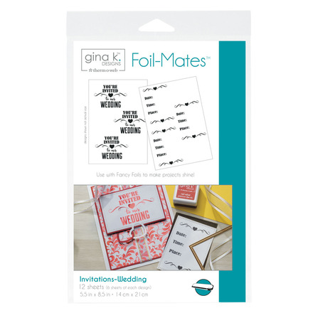 Gina K. Designs Foil-Mates™ Invitations • Wedding picture