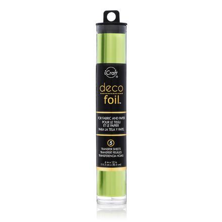 Deco Foil™ Transfer Sheets • Lime (Satin) picture