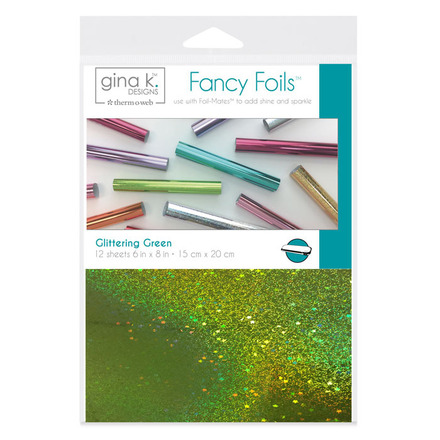 "Gina K. Designs Fancy Foils™ 6"" x 8"" • Glittering Green picture"