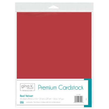 Gina K. Designs Premium Cardstock • Red Velvet picture
