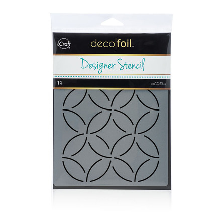 Deco Foil Abstract Circles Stencil picture