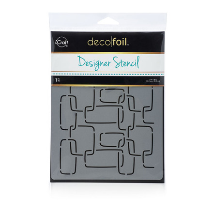 Deco Foil Modern Links Stencil picture