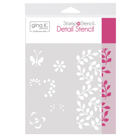 Gina K. Designs StampnStencil Detail Stencil - Petals & Wings picture