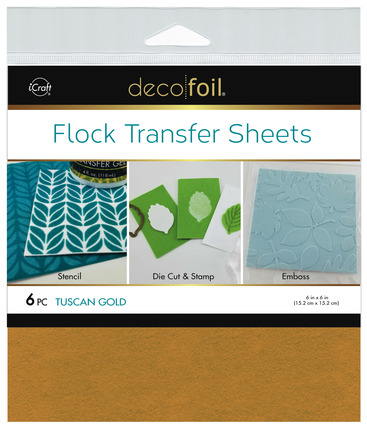 Deco Foil Flock Transfer Sheets – Tuscan Gold picture