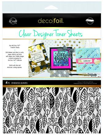 Deco Foil Clear Toner Sheets - Endless Leaves picture