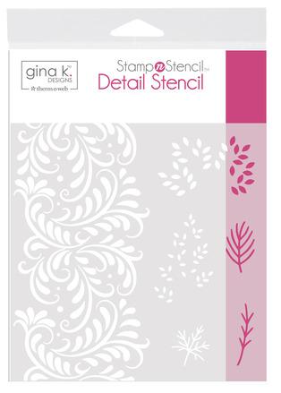 Gina K. Designs StampnStencil Detail Stencil - Autumn Wishes picture