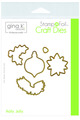 Gina K. Designs StampnFoil Die Set, Holly Jolly