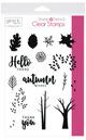 Gina K. Designs StampnStencil Stamp Set, Autumn Wishes