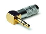Oyaide P-3.5GL Gold Plated ANGLED 3.5mm Jack Plug