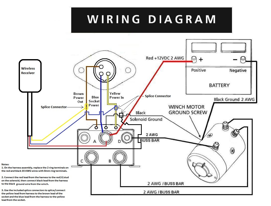 ramsey rep8000 winch solenoid wiring diagram   u2013 pirate4x4
