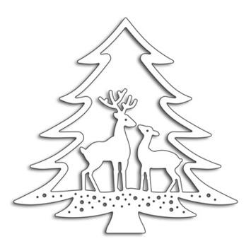 deer in tree picture