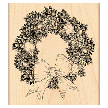 pine wreath picture