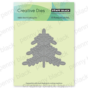 folk art xmas tree picture