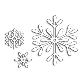3 snowflakes picture