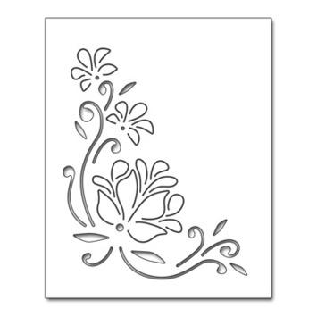 pop up floral corner picture