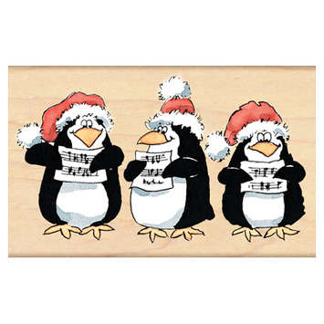 caroling penguins picture