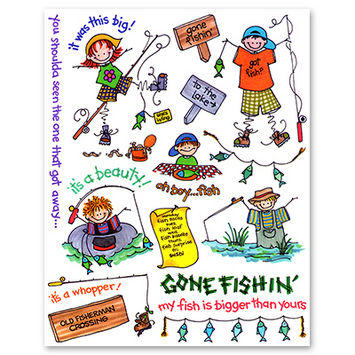 stick kids fishing picture