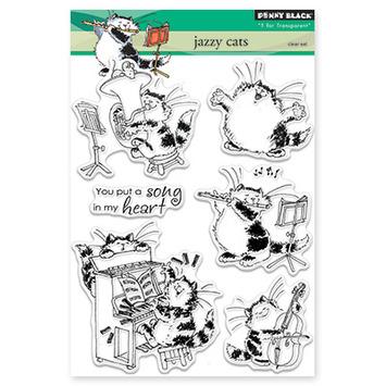 Penny Black Jazzy Cats