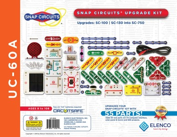 Snap Circuits Upgrade Kit SC100/SC130 into SC750 picture