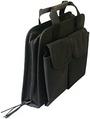 Heavy-Duty Black Canvas Zipper Case