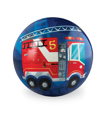 "4"" Fire Truck Playball picture"