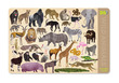 2-Sided Placemat/Wild Animals additional picture 1