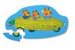 12-pc Mini Puzzle/Richard Scarry® Corn Car additional picture 1