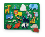 Let's Play 16 pc. Wood Puzzle - Zoo