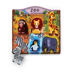 Let's Play/6 pc. Wood Puzzle - At the Zoo