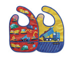 Construction Zone Bib / Set of 2  / Travel Pouch