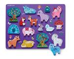 Let's Play 16 pc. Wood Puzzle - Unicorn Garden