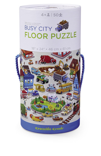 Busy City Canister Floor Puzzle picture