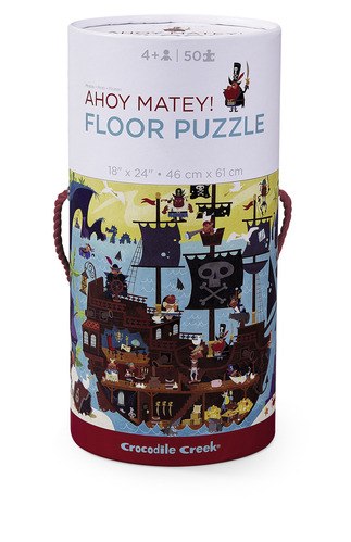 Ahoy Matey Canister Floor Puzzle picture