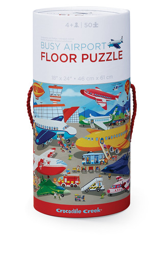 Busy Airport Canister Floor Puzzle picture