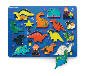 Let's Play 16 pc. Wood Puzzle - Dinosaurs picture
