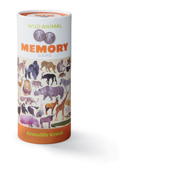 Canister Memory Game/Wild Animals picture
