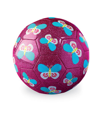 Size 3 Glitter Soccer/Butterfly picture