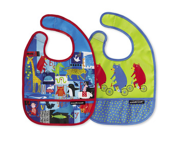ABC Bear & Friends Bib / Set of 2 / Travel Pouch picture
