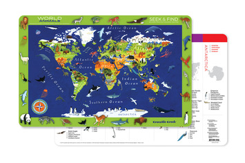 2-Sided Placemat/World Animals picture