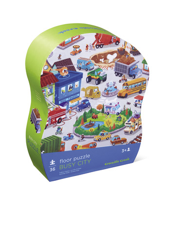 Busy City Shaped Puzzle picture