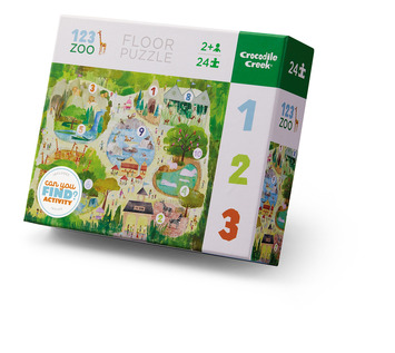 24-pc Early Learning / 123 Zoo picture