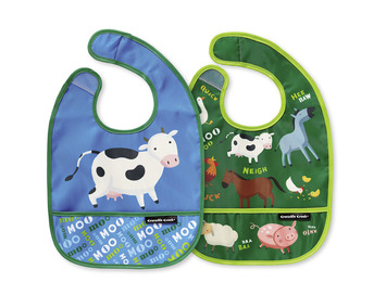 Barnyard Banter Bib / Set of 2 / Travel Pouch picture