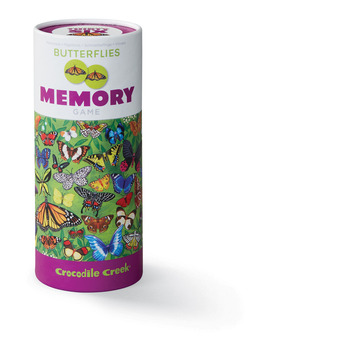 Canister Memory Game/Butterflies picture