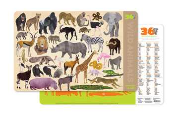 2-Sided Placemat/Wild Animals picture