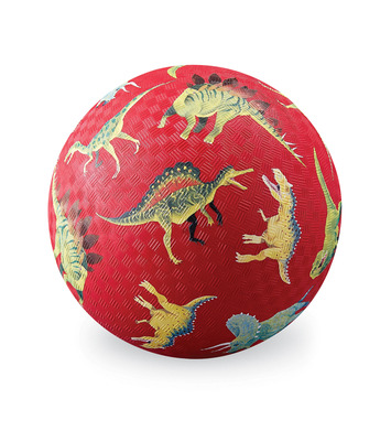 """7"""" Dinosaurs Red Playball picture"""