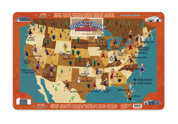 Basketball America Placemat picture