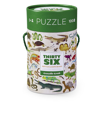 Reptiles & Amphibians Thirty-Six Animals Puzzle picture