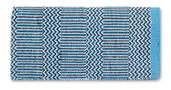 Ramrod Doubleweave - 32X64 - Turq/Blk/Crm