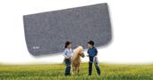 Wool Pony Pad 20x20x1/2